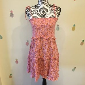Wild Fable Smocked Pink Floral Dress